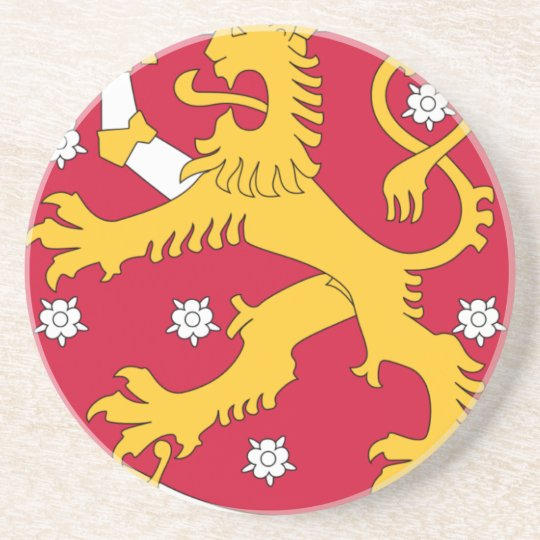 Coat of Arms of Finland - Suomen Vaakuna Beverage Coasters