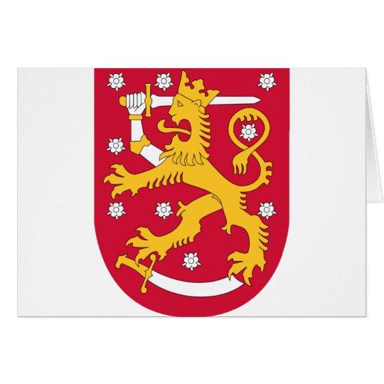 Coat of Arms of Finland - Suomen Vaakuna Card