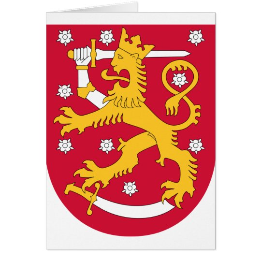 Coat of Arms of Finland - Suomen Vaakuna Card