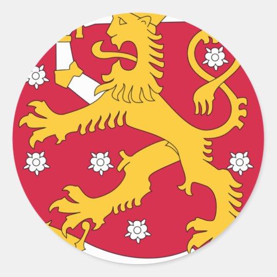 Coat of Arms of Finland - Suomen Vaakuna Classic Round Sticker