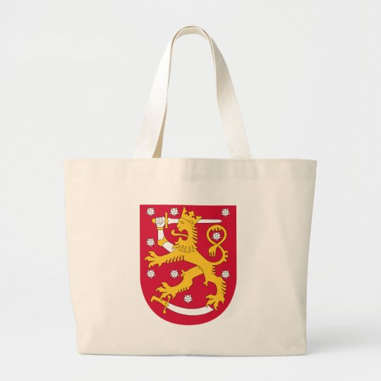 Coat of Arms of Finland - Suomen Vaakuna Large Tote Bag