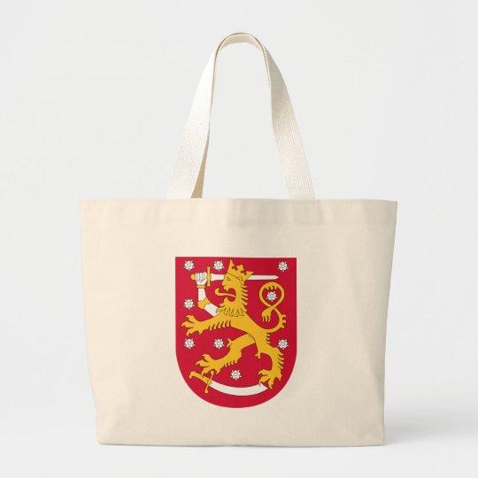 Coat of Arms of Finland - Suomen Vaakuna Large Tote Bag