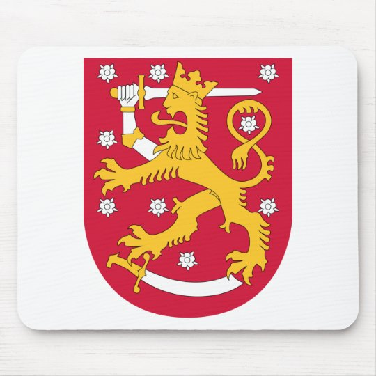 Coat of Arms of Finland - Suomen Vaakuna Mouse Pad