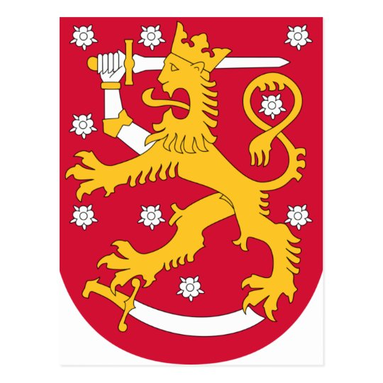 Coat of Arms of Finland - Suomen Vaakuna Postcard