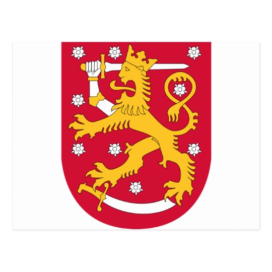 Coat of Arms of Finland - Suomen Vaakuna Postcard