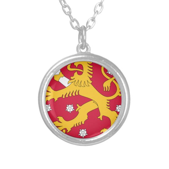 Coat of Arms of Finland - Suomen Vaakuna Silver Plated Necklace
