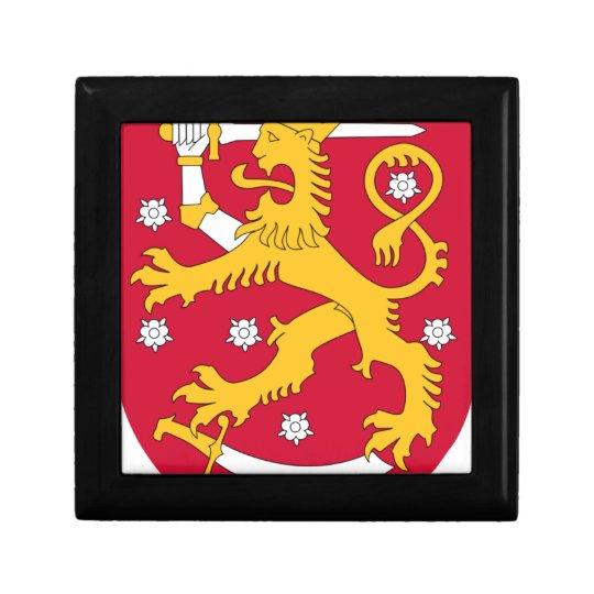 Coat of Arms of Finland - Suomen Vaakuna Small Square Gift Box
