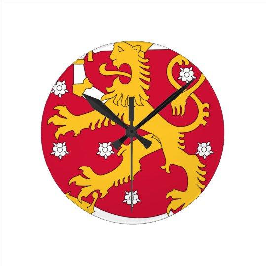 Coat of Arms of Finland - Suomen Vaakuna Wall Clock