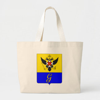 Coat_of_Arms_of_Gatchina_(v._1) Large Tote Bag
