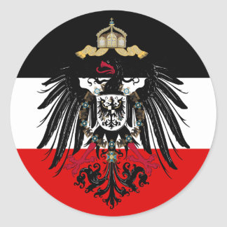 Coat of Arms of German Empire Round Sticker