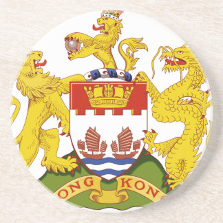 Coat_of_arms_of_Hong_Kong_(1959-1997) Beverage Coasters