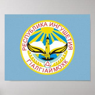 Coat of arms of Ingushetia Poster