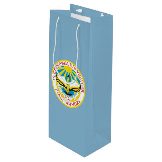 Coat of arms of Ingushetia Wine Gift Bag