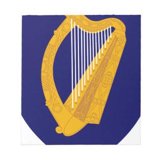 Coat of arms of Ireland - Irish Emblem Notepad