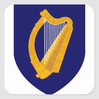 Coat of arms of Ireland - Irish Emblem Square Sticker