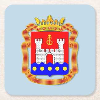 Coat of arms of Kaliningrad oblast Square Paper Coaster