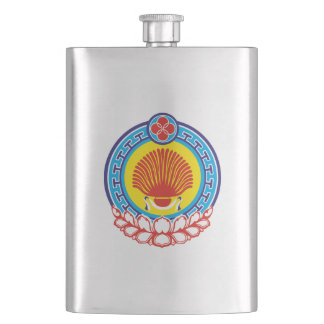 Coat of arms of Kalmykia Hip Flask