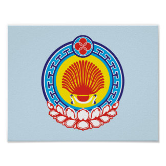 Coat of arms of Kalmykia Poster