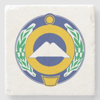 Coat of arms of Karachay-Cherkessia Stone Coaster