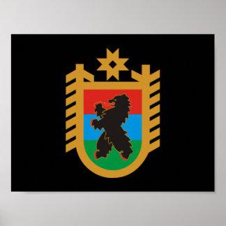 Coat of arms of Karelia Poster