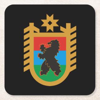 Coat of arms of Karelia Square Paper Coaster