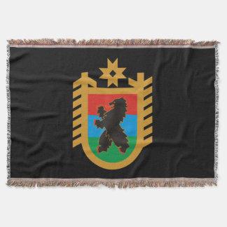 Coat of arms of Karelia Throw Blanket