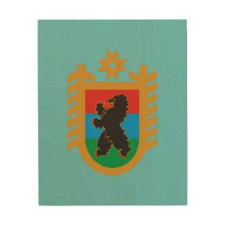 Coat of arms of Karelia Wood Wall Art