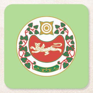Coat of arms of Khakassia Square Paper Coaster