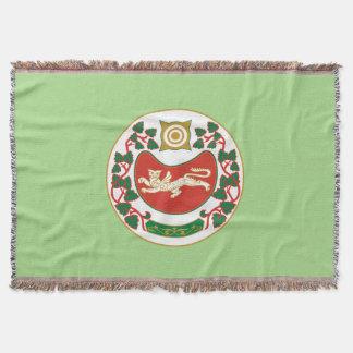 Coat of arms of Khakassia Throw Blanket