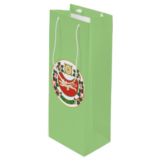 Coat of arms of Khakassia Wine Gift Bag