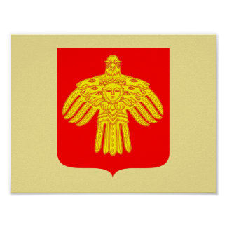 Coat of arms of Komi Poster