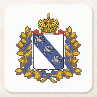 Coat of arms of Kursk oblast Square Paper Coaster