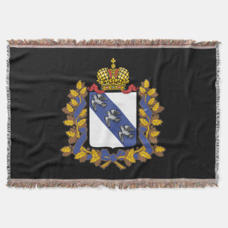 Coat of arms of Kursk oblast Throw Blanket