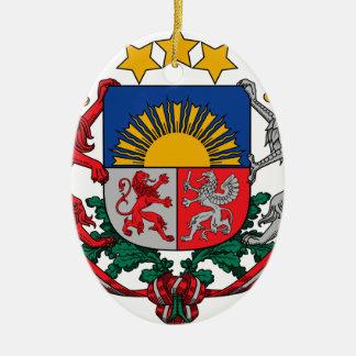 Coat of arms of Latvia - Latvijas ģerbonis Ceramic Oval Decoration