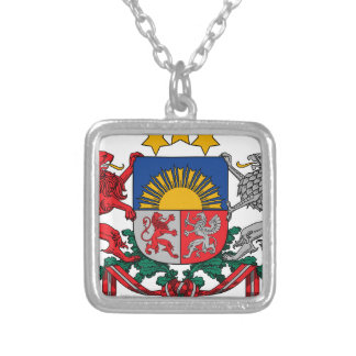 Coat of arms of Latvia - Latvijas ģerbonis Silver Plated Necklace