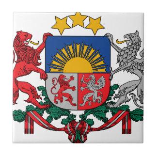 Coat of arms of Latvia - Latvijas ģerbonis Small Square Tile