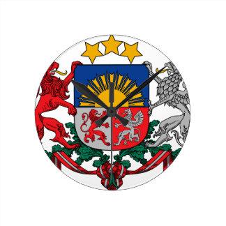Coat of arms of Latvia - Latvijas ģerbonis Wall Clock