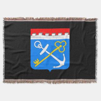 Coat of arms of Leningrad oblast Throw Blanket