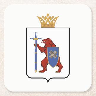 Coat of arms of Mari El Square Paper Coaster