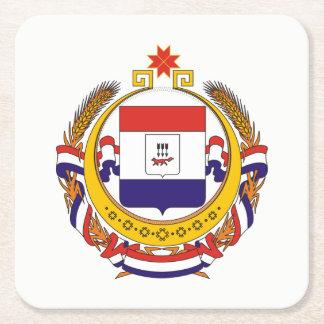 Coat of arms of Mordovia Square Paper Coaster