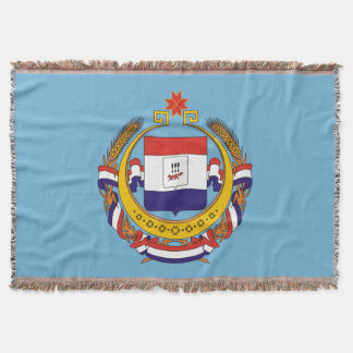 Coat of arms of Mordovia Throw Blanket