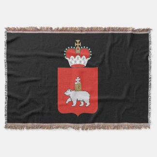 Coat of arms of Perm krai Throw Blanket