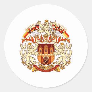Coat of Arms of Prague Round Sticker