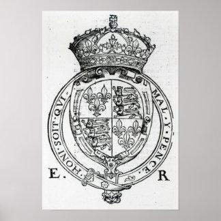 Coat of Arms of Queen Elizabeth I Poster