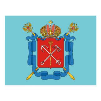 Coat of arms of Saint Petersburg Postcard