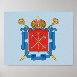 Coat of arms of Saint Petersburg Poster