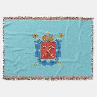 Coat of arms of Saint Petersburg Throw Blanket