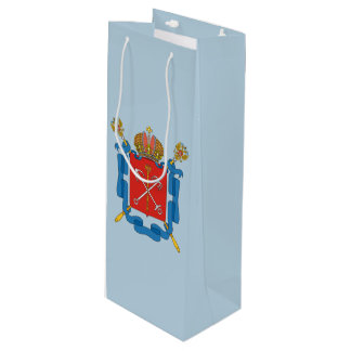 Coat of arms of Saint Petersburg Wine Gift Bag