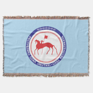 Coat of arms of Sakha Throw Blanket