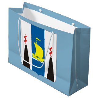 Coat of arms of Sakhalin oblast Large Gift Bag